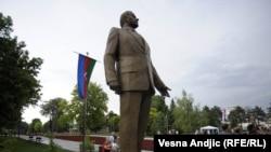 Открытие памятника Гейдару Алиеву в Белграде