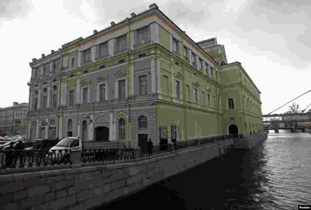 A view from the Kryukov canal of the original Mariinsky Theater