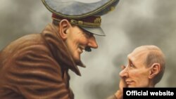 Фрагмент карикатури Андрія Левченка, переможця конкурсу «Диявольська бензоколонка»