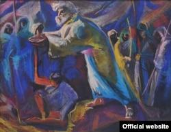 "Робота художника Євгена Безніска за мотивами твору Івана Франка ""Мойсей"""