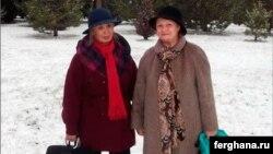 Human rights defenders Adelaida Kim (left) and Elena Urlaeva