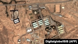 Iran -- A satellite photo shows a view of facilities of Parchin military site in Iran which were said to be possibly involved in nuclear weapons research, August 13, 2004