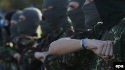 """Бойцы украинского добровольческого батальона """"Мариуполь"""""""