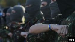 Байцы ўкраінскага добраахвотніцкага батальёну «Марыюпаль»