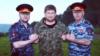 Замминистра внутренних дел Чечни Апти Алаудинов, глава ЧР Рамзан Кадыров и руководитель МВД по республике Руслан Алханов