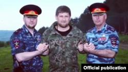Апти Алаудинов, Рамзан Кадыров и Руслан Алханов, архивное фото