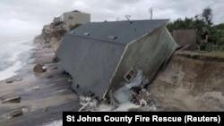 Зруйнований через ураган «Ірма» будинок на узбережжі, штат Флорида, США, 11 вересня 2017 року