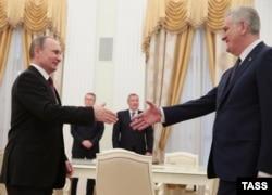 Переговоры Владимира Путина и тогдашнего президента Сербии Томислава Николича. Москва, 2016 год