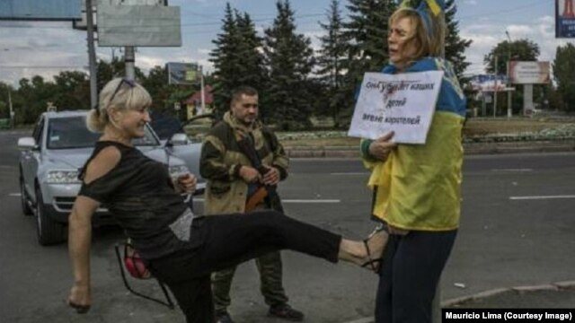 Iryna Dovhan's public humiliation in Donetsk sparked outrage in Ukraine and around the world.