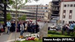 Obilježavanje stradanja radnika RTS-a, Beograd, 23. april 2014.
