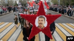 Портрет Сталина в Севастополе 9 мая 2017 года