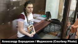 Anna Pavlikova in a Moscow court on August 16.