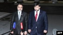 Денис Пушилин и Владислав Дейнего в Минске 10 февраля