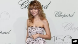 Gulnara Karimova arrives for a party during the international film festival in Cannes in 2010.