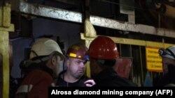"""Рабочие компании """"Алроса"""", архивное фото"""