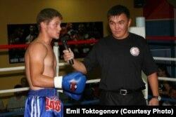 Рафаэль Физиев и его тренер Эмиль Токтогонов. 2009 г.