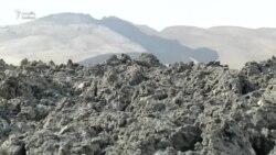 Bakının Qaradağ rayonundakı Otman-Bozdağ palçıq vulkanı püskürüb