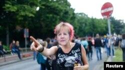 Протестующие в Гамбурге