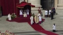 Католікі сьвяткуюць узыходжаньне на пасад папы Францішка