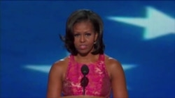 Michelle Obama Addresses Democratic Convention