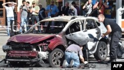 Автомобиль, в котором погиб журнались Павел Шеремет