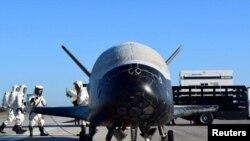 Американский космоплан Х-37В. Мыс Канаверал, Флорида, 7 мая 2017 года