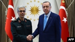 Mohammad Hussein Bagheri dhe Recep Tayyip Erdogan