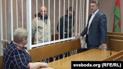 Былыя кантралёры Міністэрства транспарту Мікалай Літошык (зьлева) і Аляксандар Грэковіч