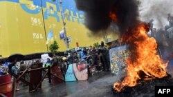 Майдандағы өрт. Киев, 31 мамыр 2014 жыл.