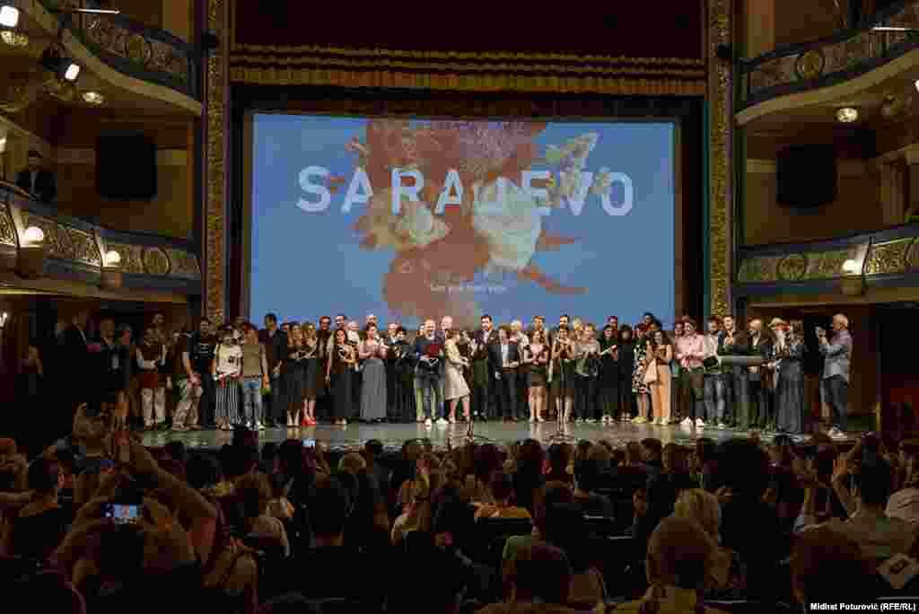 Nagrađeni dobitnici na završnoj svečanosti Sarajevo Film Festivala u Narodnom pozorištu