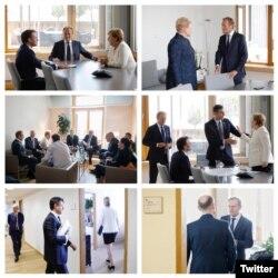 Moldova -negocieri la Bruxelles, ziua a treia, poze postate pe Twitter de Donald Tusk, președintele Consiliului European, 2 iulie 2019