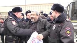 Разгон акции в защиту Савченко в Москве