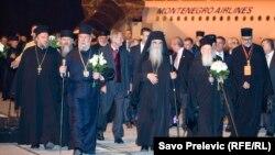 Vjerski lideri po dolasku u Podgoricu, 6. oktobar 2013.