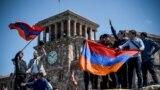 Демонстранты в Ереване 2 мая 2018 года