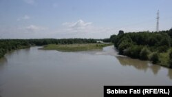 Abhazia, Georgia 2016: Enguri, râul ce desparte Georgia de Abhazia