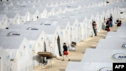 Kamp i refugjatëve sirianë në Turqi