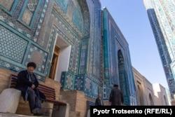 Şohi Zinda ýadygärlikler kompleksi, Samarkant, 2019-njy ýylyň 29-njy noýabry.