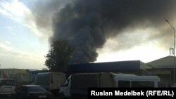 Пожар на барахолке города Алматы 13 сентября 2013 года.