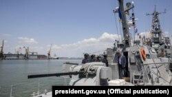 Петро Порошенко на кораблі ВМС України, Одеса, 3 липня 2016 року