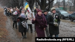 Protest action of supporters of Yulia Tymoshenko at the gate penal colony in Kharkiv on January 5.