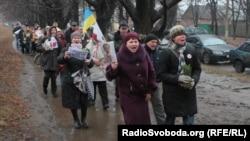 Акция в поддержку бывшего премьер-министра Украины Юлии Тимошенко. Харьков, 5 января 2012 года.