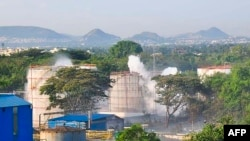 Pamje nga fabrika e kompanisë LG Polymers në Indi.