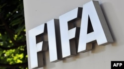 Switzeland -- FIFA logo, Zurich, 29May2011