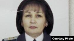 Бас прокуратураның бұрынғы қызметкері, отставкадағы аға әділет кеңесшісі Гүлбану Абланова.
