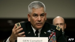 Gjenerali Campbell gjatë dëshmisë së tij të sotme në Senat