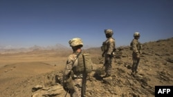 U.S. Marines on patrol in Afghanistan's Farah Province on September 23