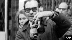 Жан-Люк Годар снимает демонстрации французских студентов, май 1968