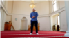 Kosovo: A lonely imam in seen in a mosque after spread of coronavirus.