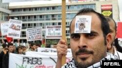 Protest protiv izraelskog nasilja, Sarajevo 3. jun 2010. Fotografije uz tekst: Midhat Poturović