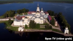 A screen grab of the Nilov Monastery, which will be the setting for an intriguing new Russian reality show with an (un)orthodox twist.